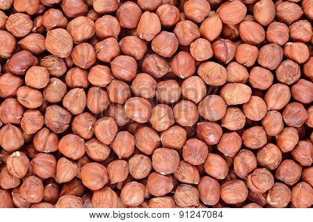 Peeled Hazelnut Background