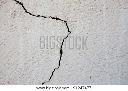 Crack in outer wall. Photo for wallpaper