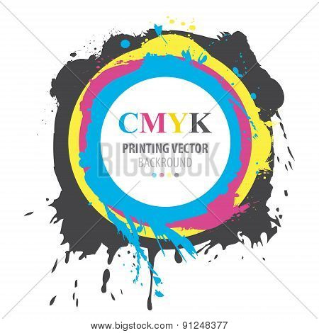 Abstract CMYK paint splash