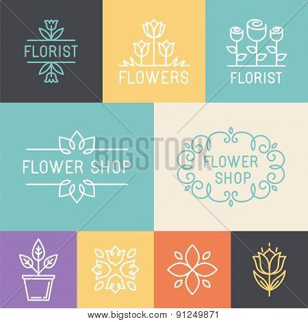 Vector Floral And Gardening Logos