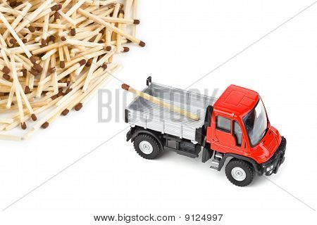 Toy Car Truck And Matches