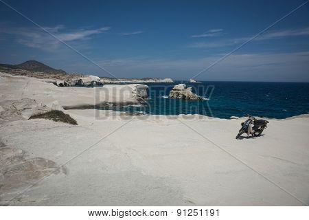 Moonscape Beach Sarakiniko, Milos, Greece