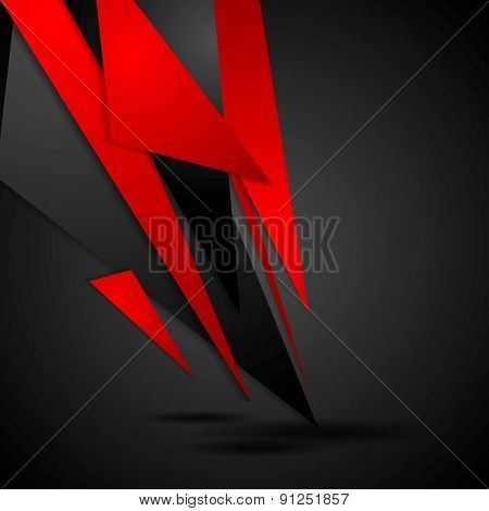 Dark tech corporate background. Vector design