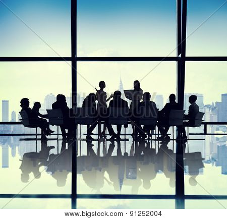 Business People Meeting Presentation Office Concept