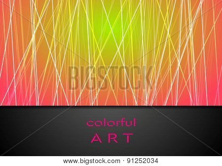 Corporate tech background with lines. Vector design