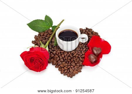 Cup Of Coffee And Chocolates