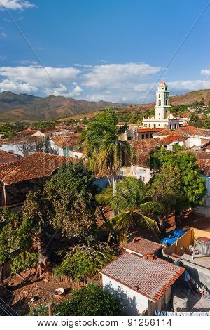 Colonial Town Cityscape Of Trinidad, Cuba. Unesco World Heritage Site.