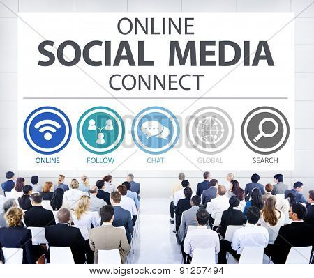 Online Social Media Connect Network Internet Concept