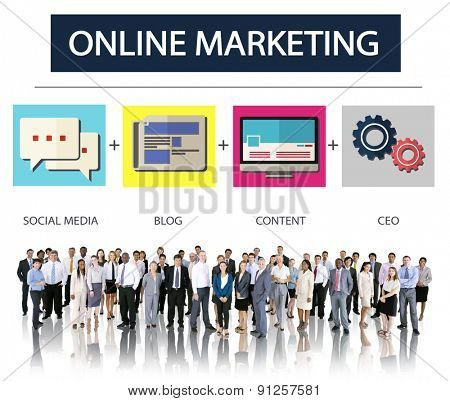 Online Marketing Business Content Strategy Target Concept
