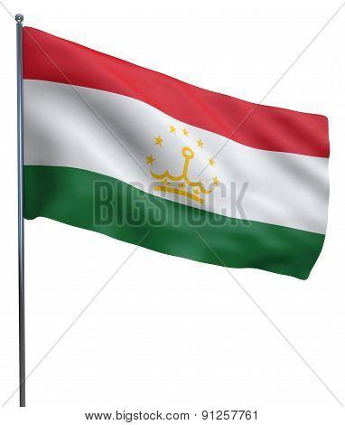 Tajikistan Flag Waving