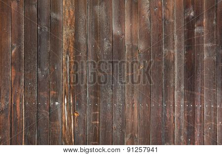 old natural wooden background, dirty wall