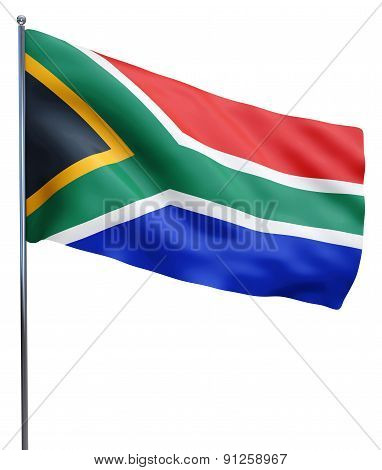 South Africa Flag Waving