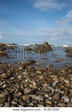 A Rocky Beach At Cape Agulhas, South Africa