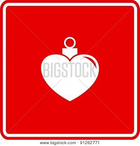 heart shaped Christmas ornament sign