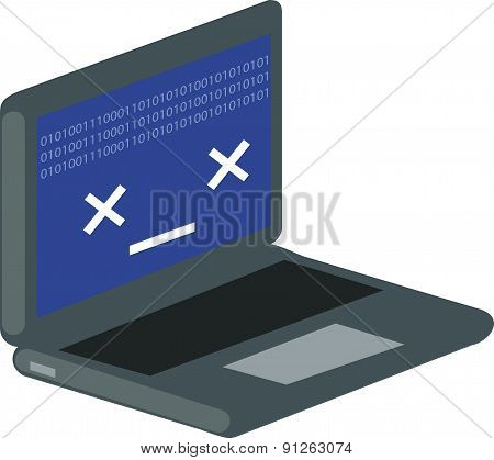 Vector Illustration Of Computer