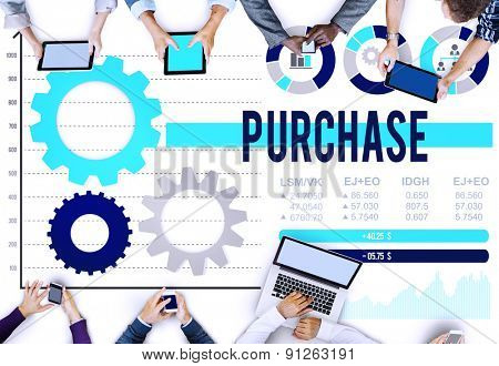 Purchase Buying Commercial Shopping Marketing Concept