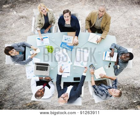 Business Team Discussion Meeting Analyzing Concept
