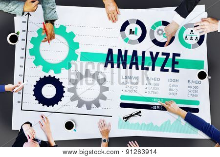 Analyze Analysis Data Information Planning Concept