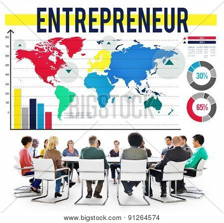 Entrepreneur MArketing Organizer Trader Promoter Concept