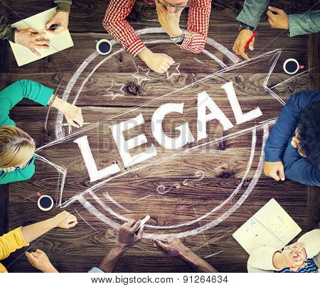 Legal Legalization Laws Justice Ethical Concept