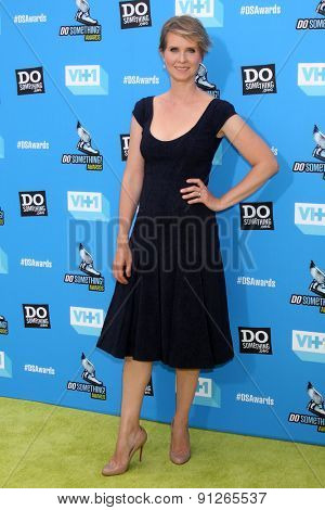 LOS ANGELES - JUL 31:  Cynthia Nixon arrives at the 2013 Do Something Awards at the Avalon on July 31, 2013 in Los Angeles, CA
