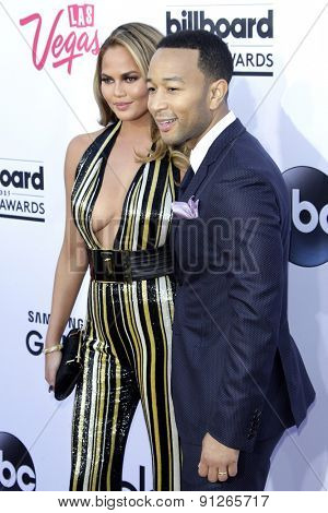 LAS VEGAS - MAY 17: Chrissy Teigen, John Legend at the 2015 Billboard Music Awards at the MGM Grand Garden Arena on May 17, 2015 in Las Vegas, Nevada.