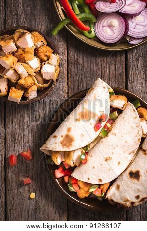 Tortilla Sandwiches In The Plate