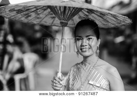 PHUKET, THAILAND - OCT 24: portrait of  thailand woman on October 24, 2011 in Phuket, Thailand. Phuket is one of the southern provinces (changwat) of Thailand