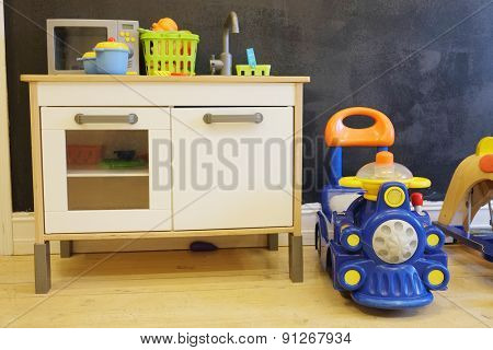 The image of a children room