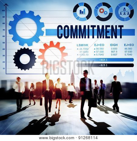 Commitment Compliance Loyalty Pledge Promise Concept