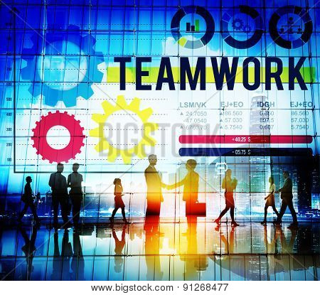Team Teamwork Partnership Organization Group Concept
