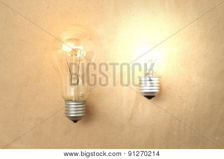 Dim And Bright Light Bulbs