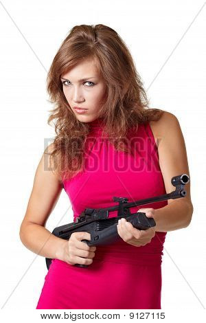 Sexy Action Girl With Gun