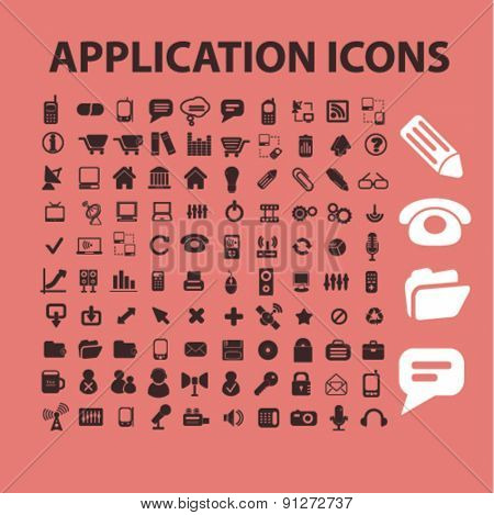 application icons set, vector