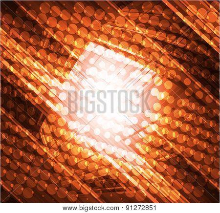 Virtual technology vector orange background