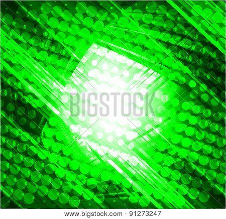 Virtual technology vector green background