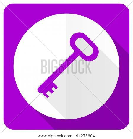 key pink flat icon secure symbol
