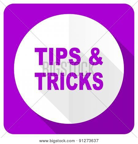 tips tricks pink flat icon