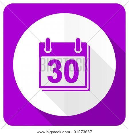 calendar pink flat icon organizer sign