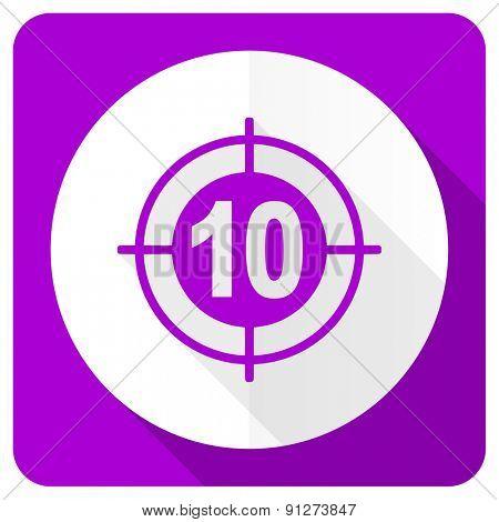 target pink flat icon