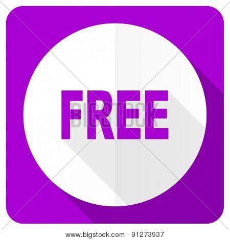 free pink flat icon
