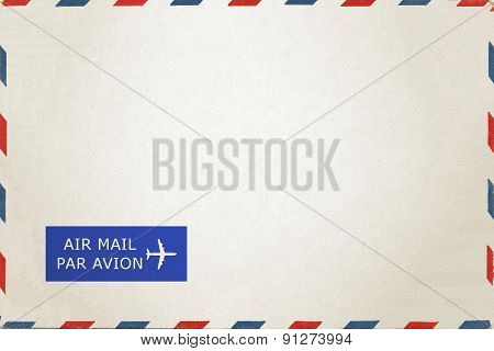 Back of airmail blank postcard