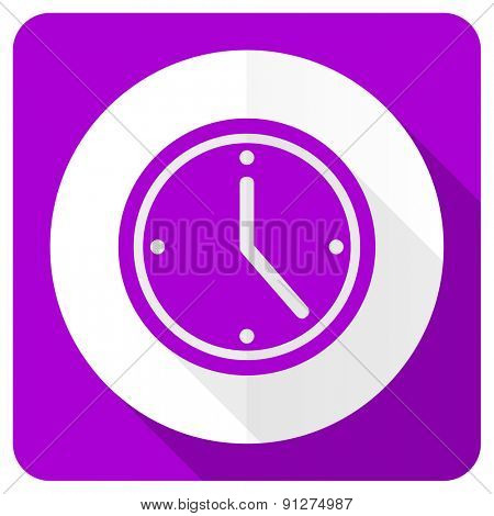 time pink flat icon watch sign