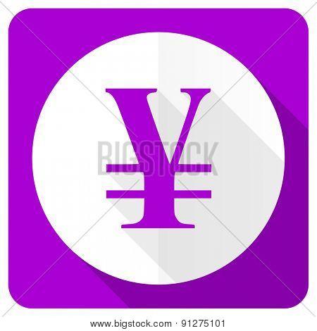 yen pink flat icon