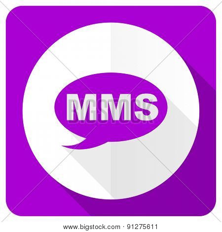 mms pink flat icon message sign