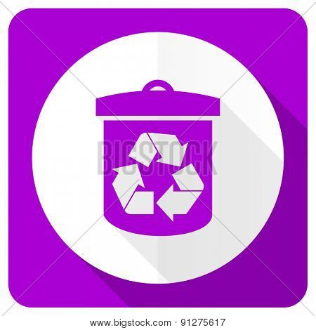 recycle pink flat icon recycling sign