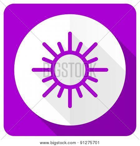 sun pink flat icon waether forecast sign