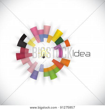 Creative Circle Abstract Vector Logo Design Template. Corporate Business Technology Creative Logotyp