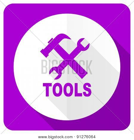 tools pink flat icon