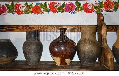 Shelf With Antique Utensils